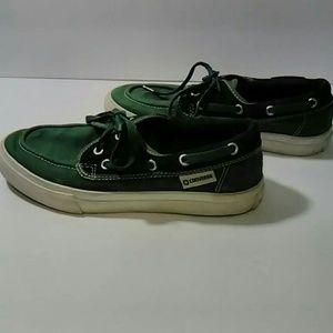 Converse  green black Unisex boat deck shoes